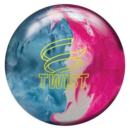 New Brunswick Bowling >> Brunswick Twist Reactive Bowling Ball Sky Blue Pink Snow 8lbs In