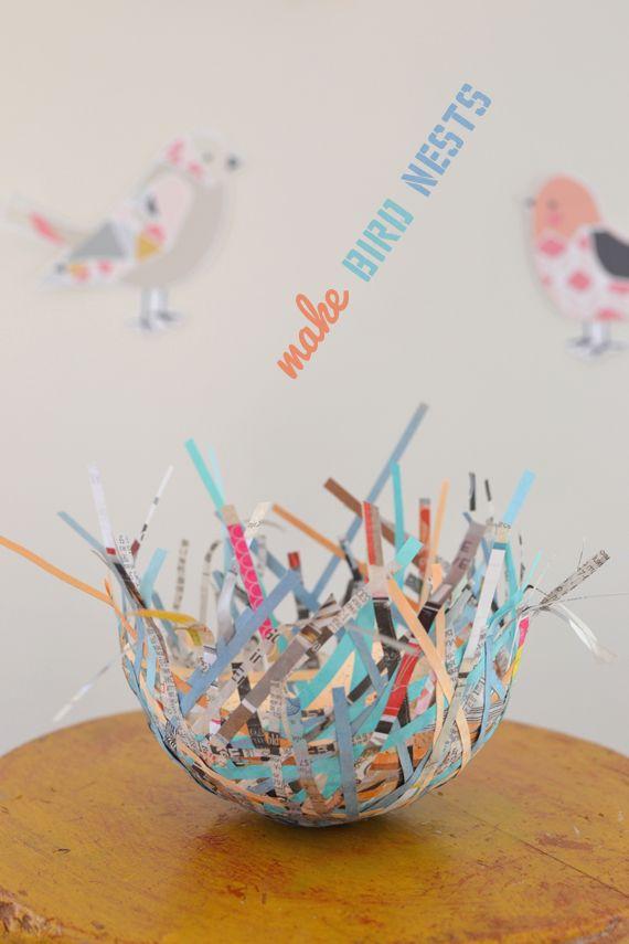 Diy Bird Nests Kid Friendly Activities Spring Crafts For Kids