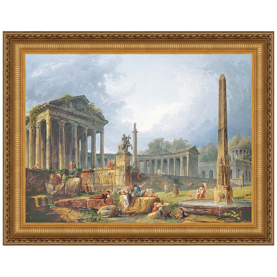 Park Avenue Collection 22X18.5 Architectural Capriccio