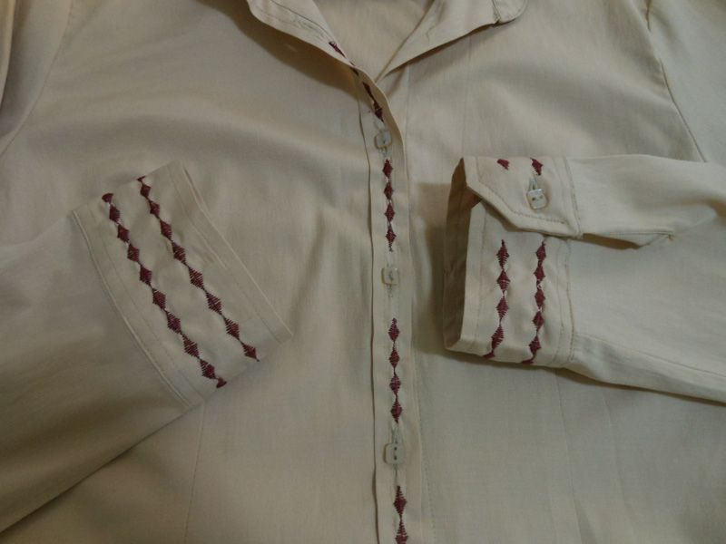 camisa bordada - tutorial
