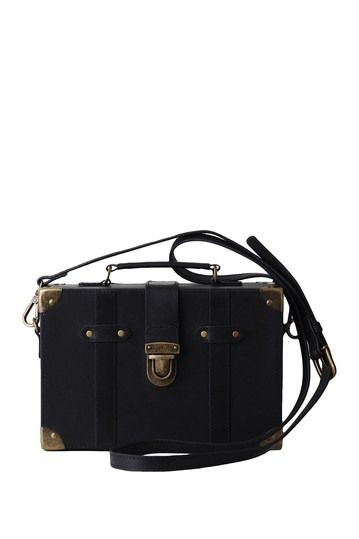 Most Wanted USA | Lily's Trunk Box Leather Crossbody Bag #nordstromrack