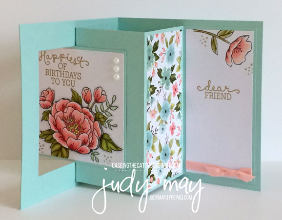 Birthday Cards Melbourne ~ Stampin' up! birthday blooms & birthday bouquet dsp lever card