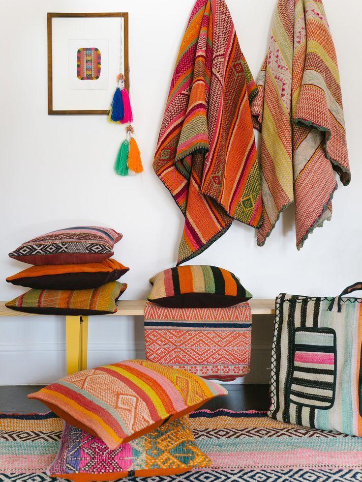 Peruanische Kissen Und Decken