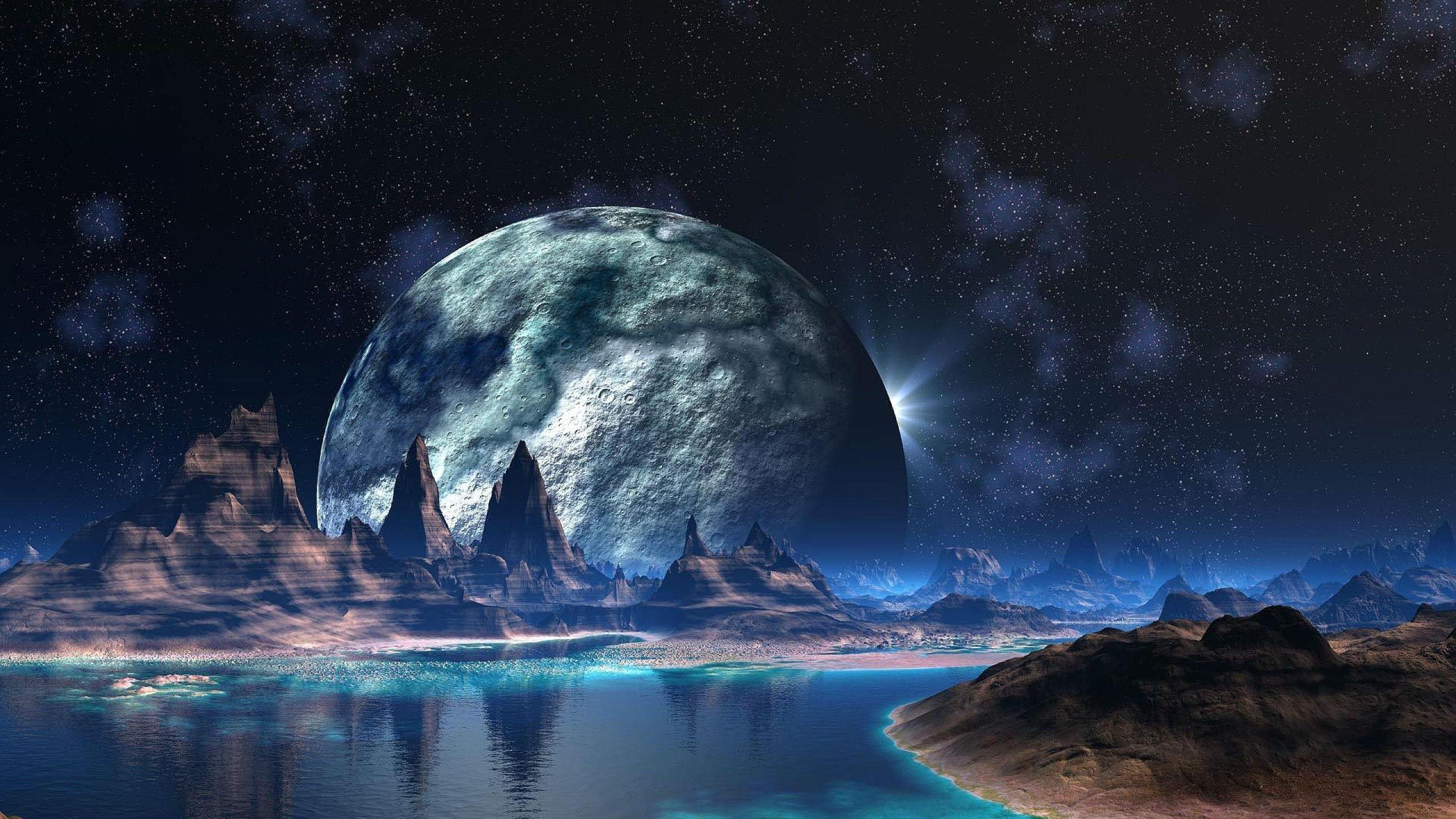Alien Planet Wallpaper 2560x1440 Planets Wallpaper Wallpaper Earth Really Cool Backgrounds