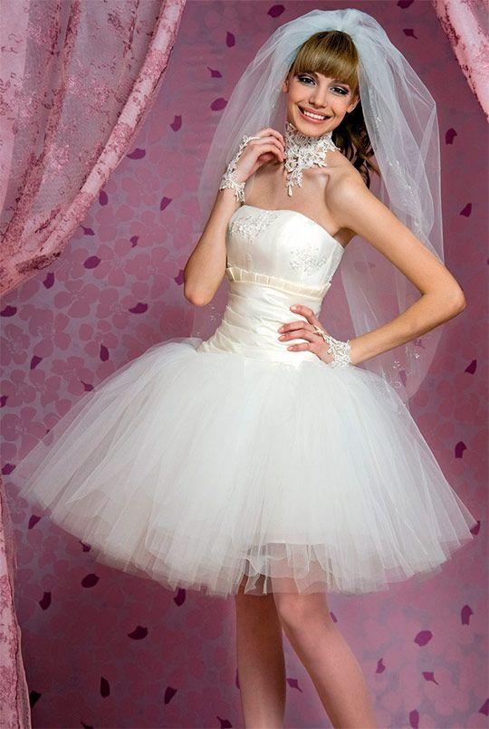 Short wedding dresses (49 photos) 2013   Свадебные платья ...