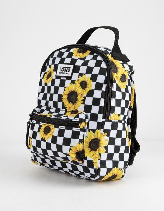 VANS Sunflower Check Mini Backpack - BLKWH - TBD-SMU #backpacks