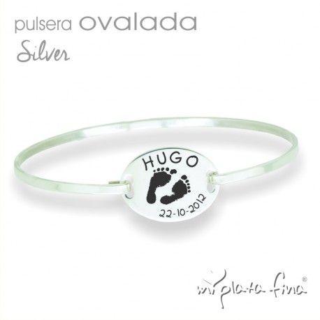 1fb9d581e308 Pulsera Ovalada Silver en plata de ley
