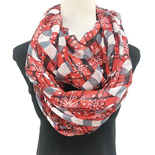 Womens Stylish Long Shawl Warm Christmas Snow Print Scarf Loop Red Check This Awesome Product By Going To The Link A Scarf Styles Fashion Christmas Fashion