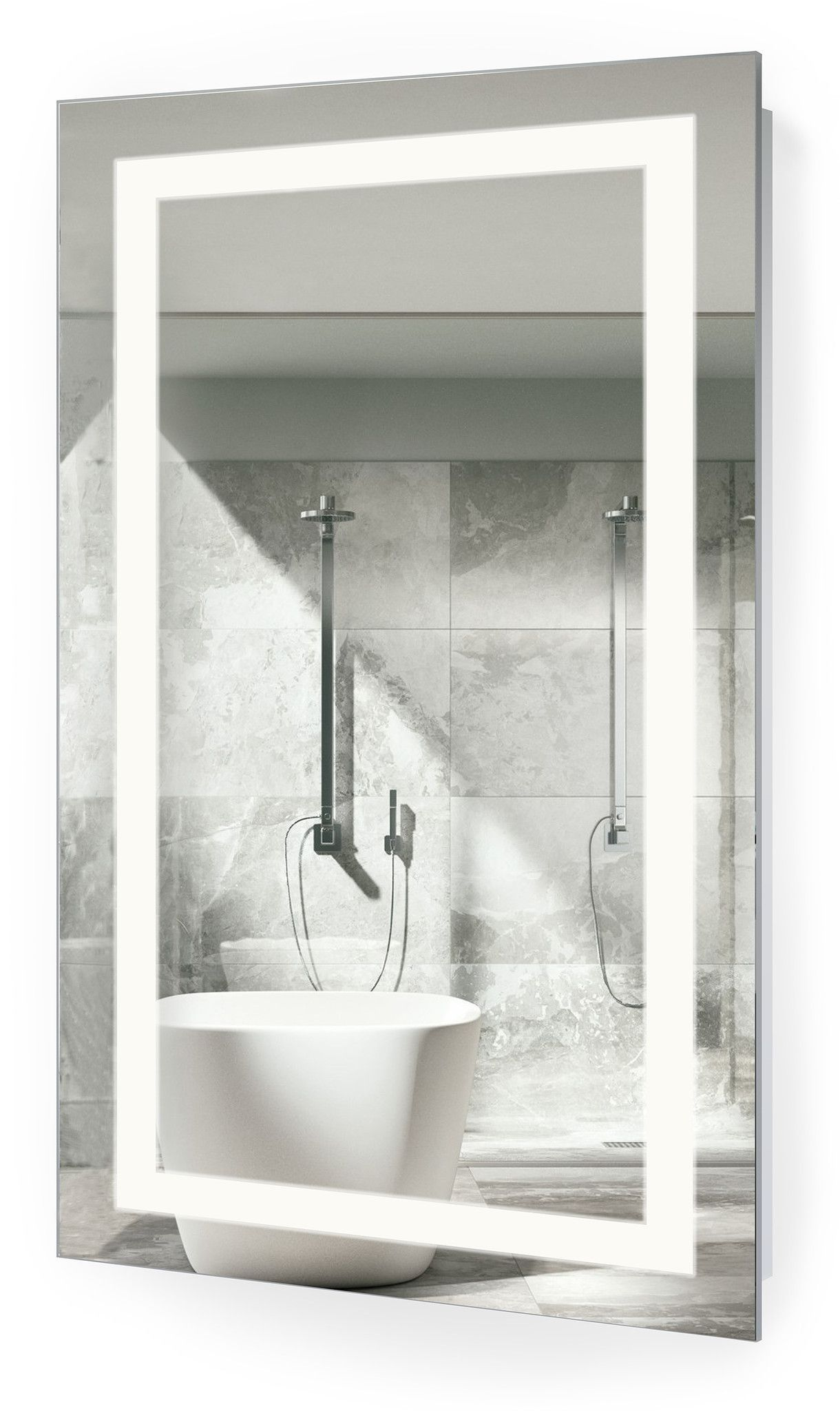 Create Photo Gallery For Website LED Bathroom Mirror Inch X Inch Lighted Vanity Mirror Includes Dimmer and Defogger