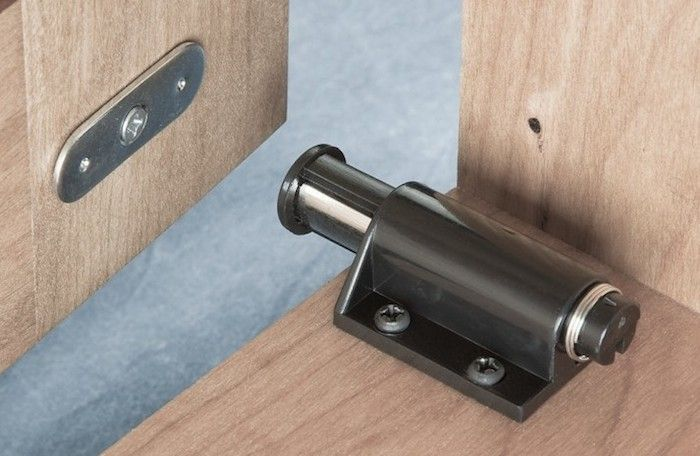 Magnetic Touch Latch Hardware by Rockler, Remodelista - Remodeling 101: How To Soundproof A Room Magnetic Latch, Magnets