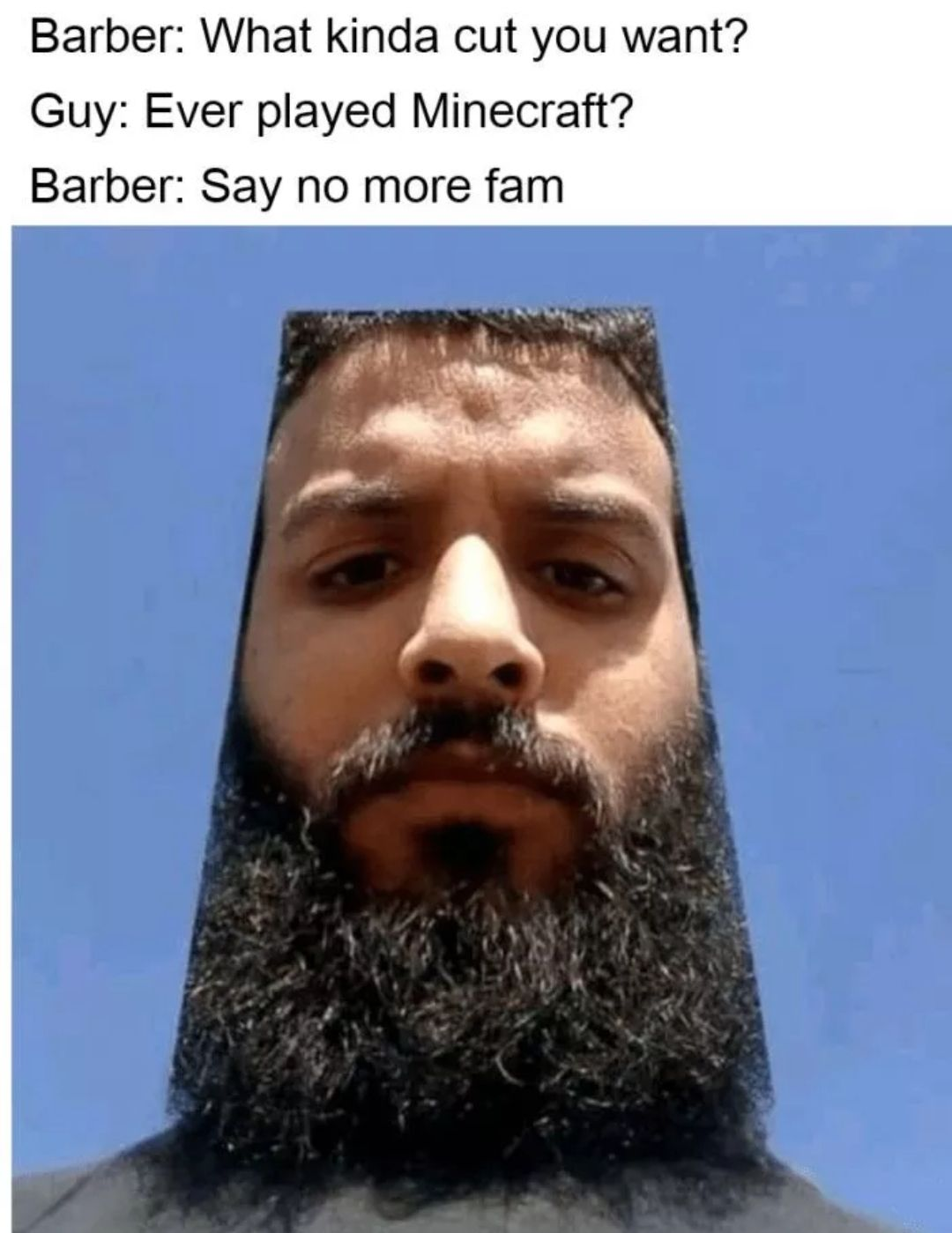 Meme Monday 31 In 2021 How To Play Minecraft Barber Say No More Barber