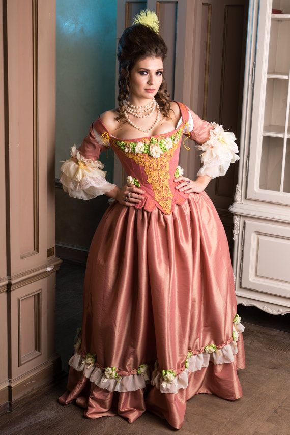 837a7116cbb5 30% OFF Christmas SALE Rose Rococo costume pink by DressArtMystery