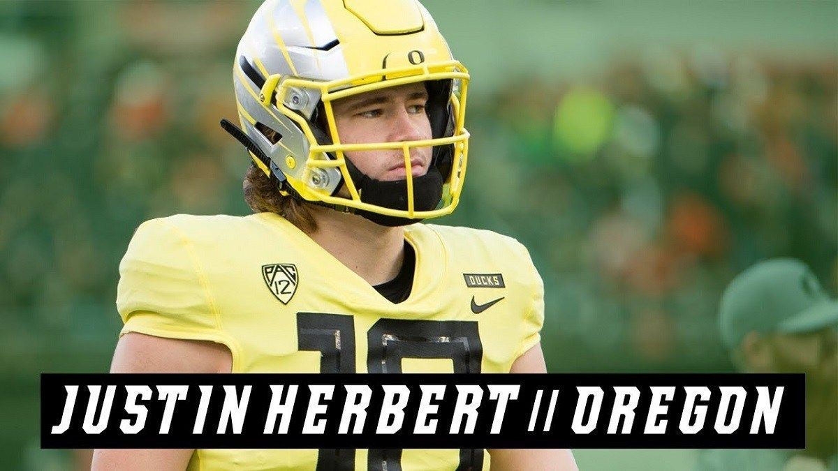 2020 Nfl Draft Summer Profile Justin Herbert Nfl Draft Positions In Football Daily Fantasy Sports