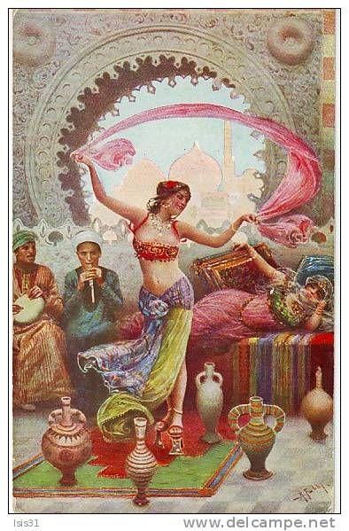 Danse Delcampe Fr Peinture Orientaliste Dance Oriental