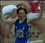 Brigitte Kraus runs world record 1000 m indoor. (2:34.8) February 19, 1978