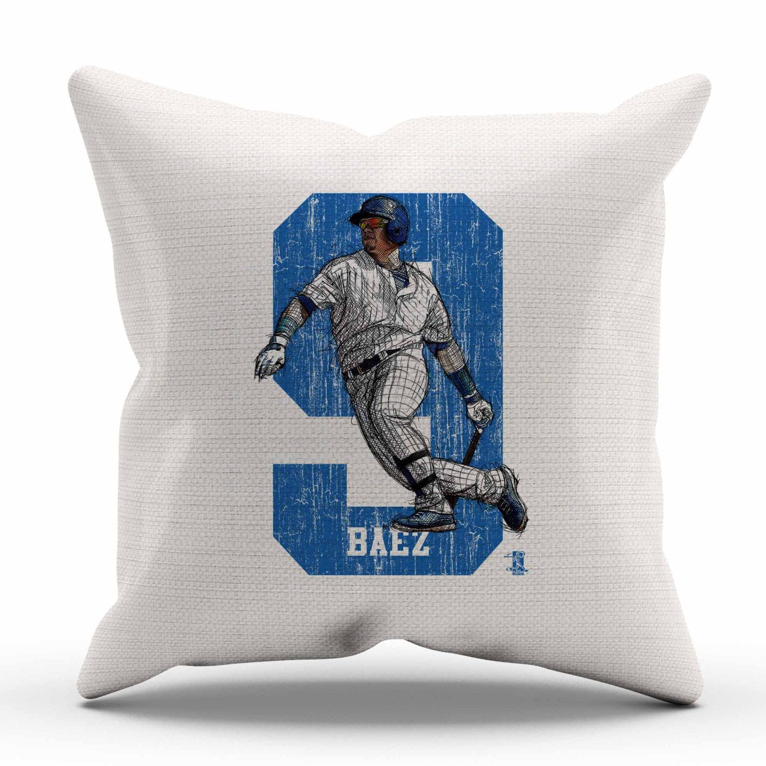 javier baez sketch 9 chicago c decorative pillow officially licensed