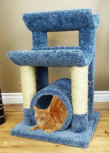 wood cat condo bed 30 inch kitty tree hammock in blue carpet  u003e u003e u003e you wood cat condo bed 30 inch kitty tree hammock in blue carpet      rh   pinterest