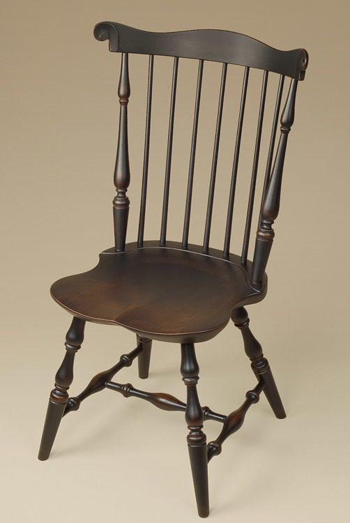Superb Fan Back Windsor Chair Antique Style Wood Dining Room Chairs Furniture