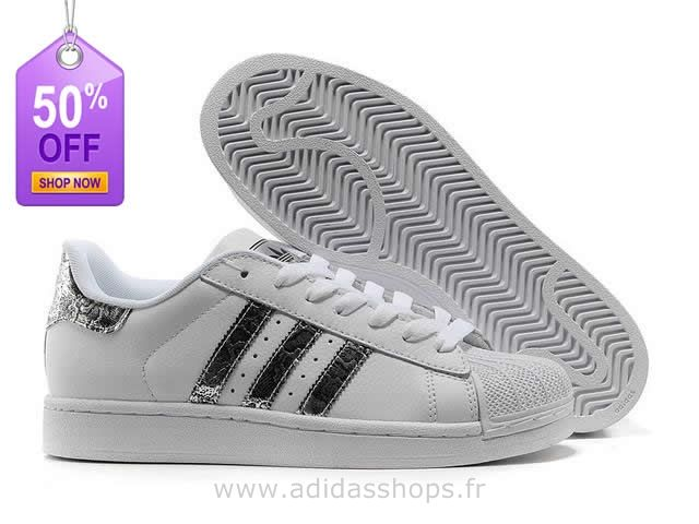 brand new 4ae56 9e51c À Serpent Blanc Superstar Argent Adidas superstar Adidas Ii