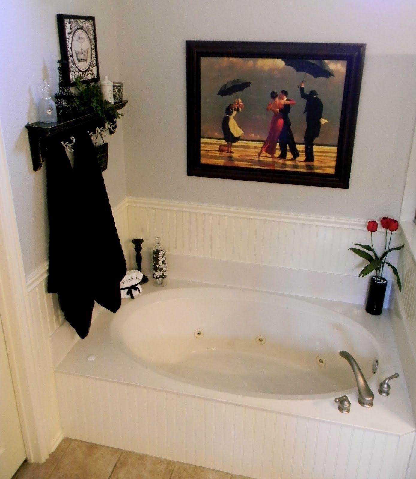 diy beadboard tub surround for the home master. Black Bedroom Furniture Sets. Home Design Ideas