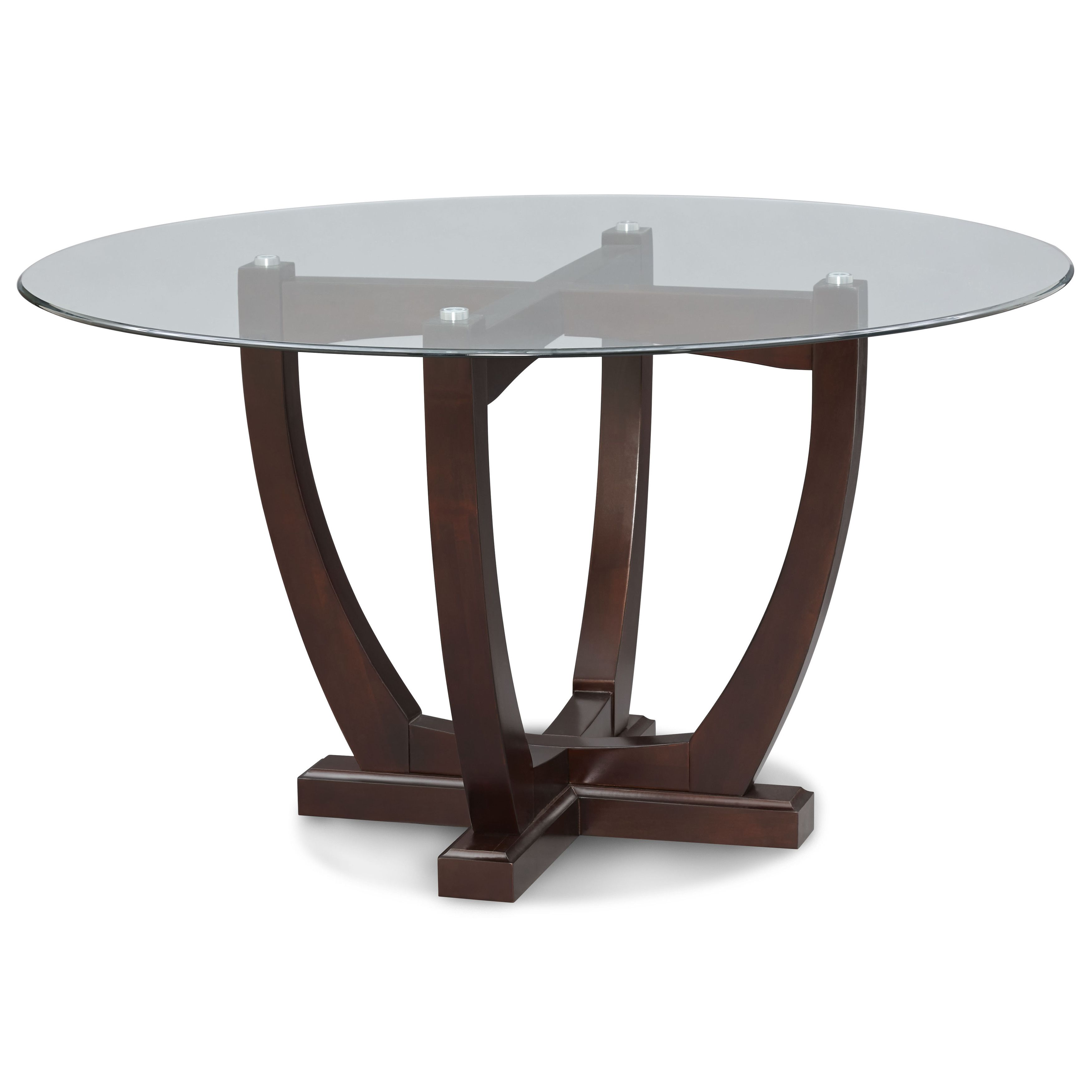 The 54 Inch Round Table Top Is Made Of Tempered Glass. The Unique Design