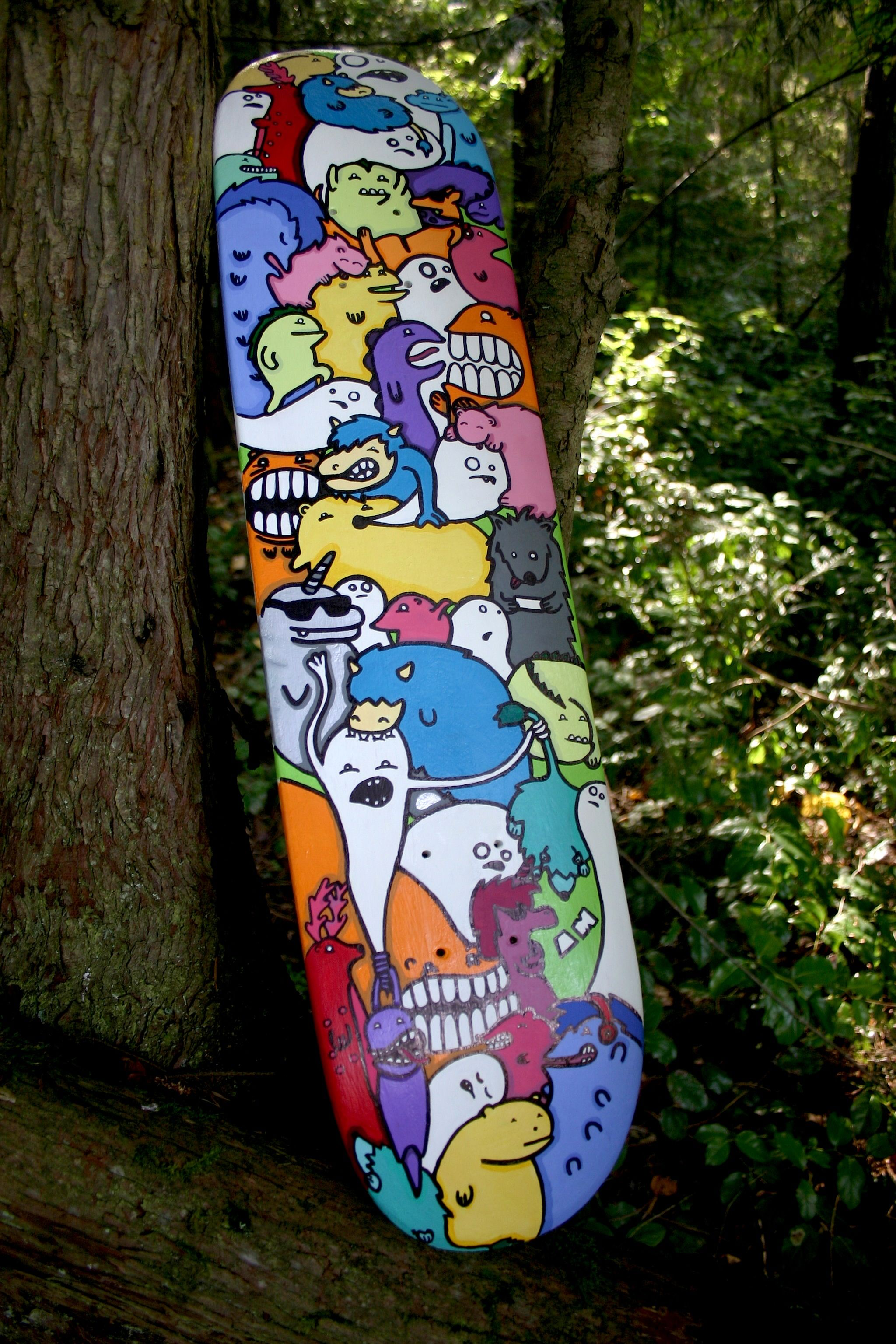 Acrylic Paint On Griptape