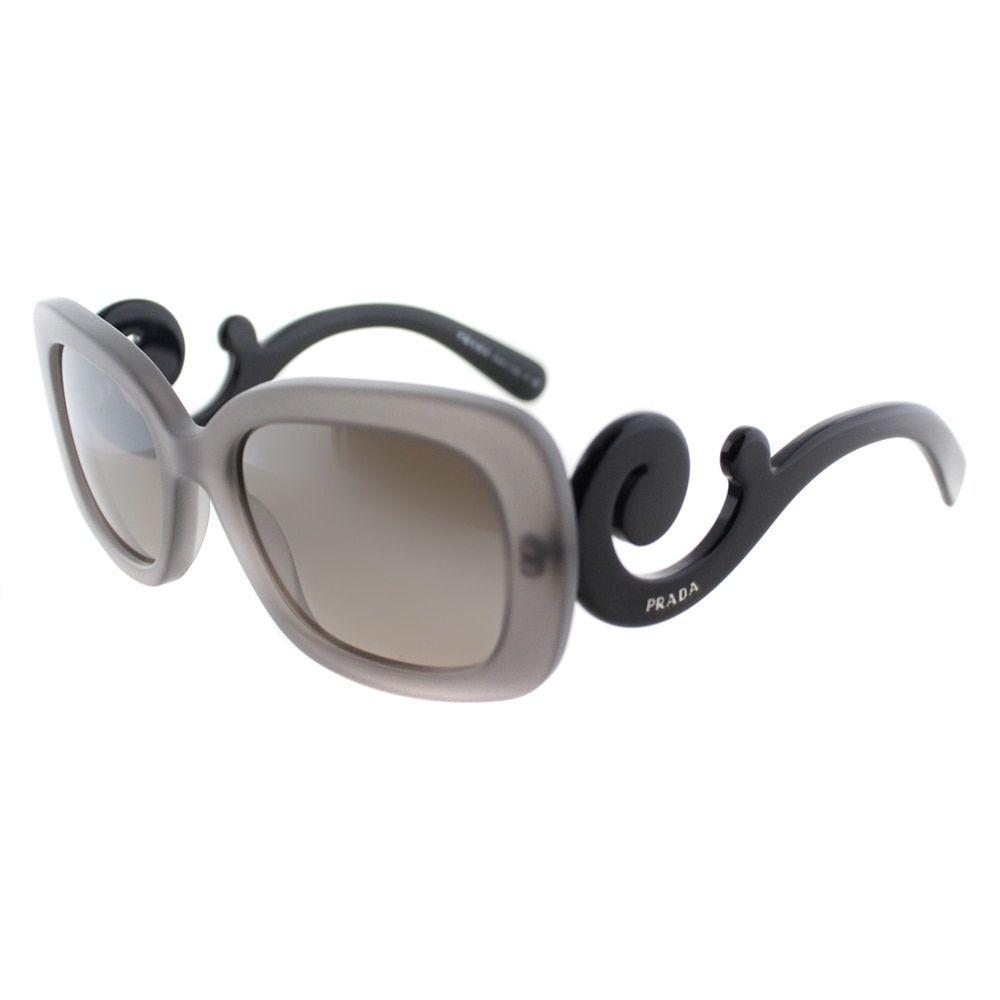 97120a5756d Prada Womens PR 27OS UBV4P0 Matte Transparent Rectangle Minimal-Baroque  Edition Sunglasses