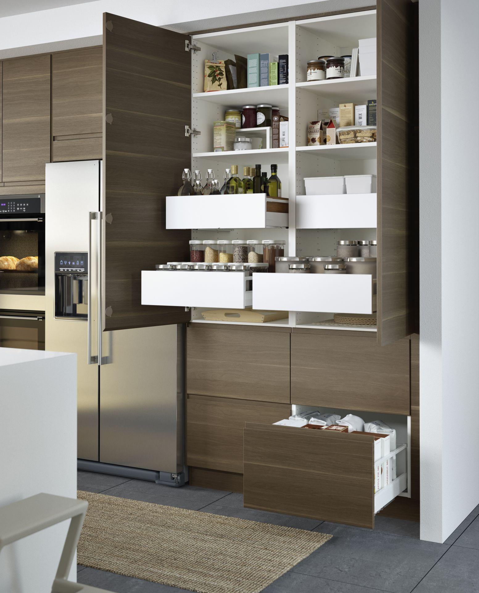 Voxtorp Deur Walnootpatroon Cucina Keuken Idee Keuken Ideeen