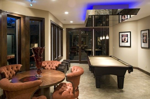 Check Out The Basement Level Of The Traverse House Plan, An Entertaining  Space For Dad