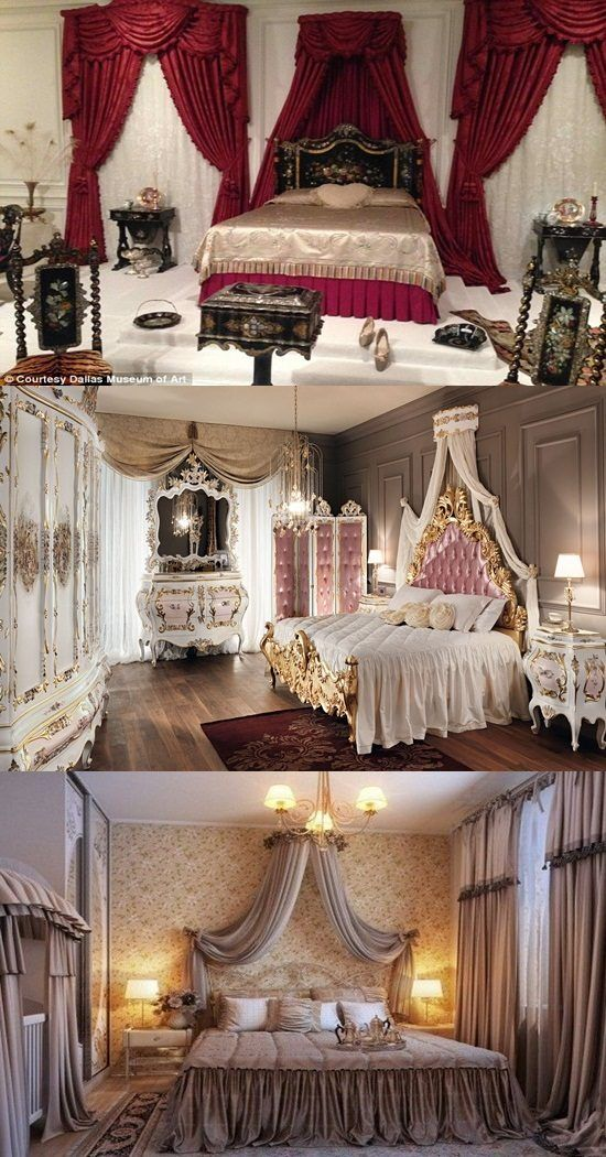 Elegant French Boudoir Themed Bedroom Style Elegant French