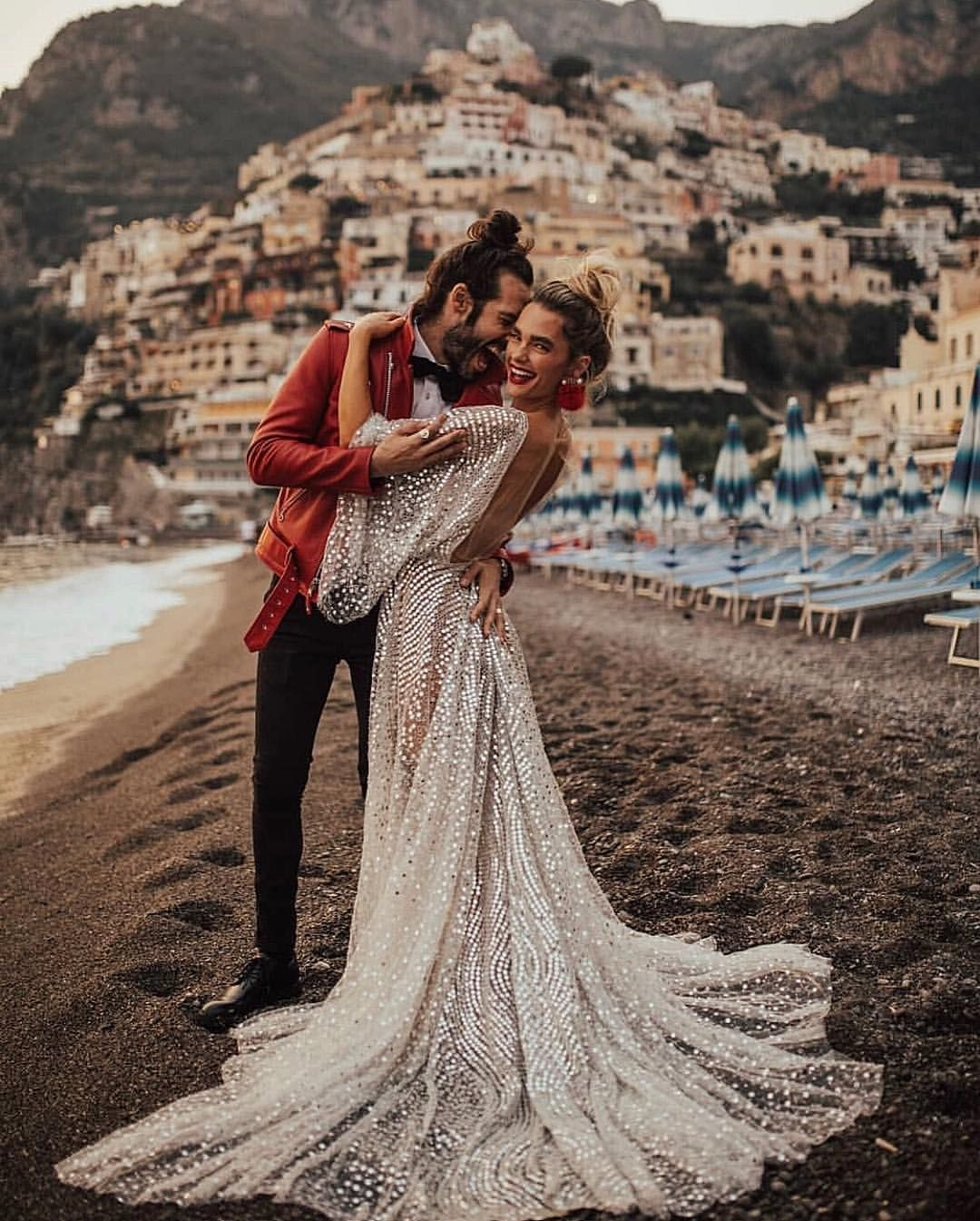 Chosen Babe Officiallyquigley Wearing The Toby Gown In Positano