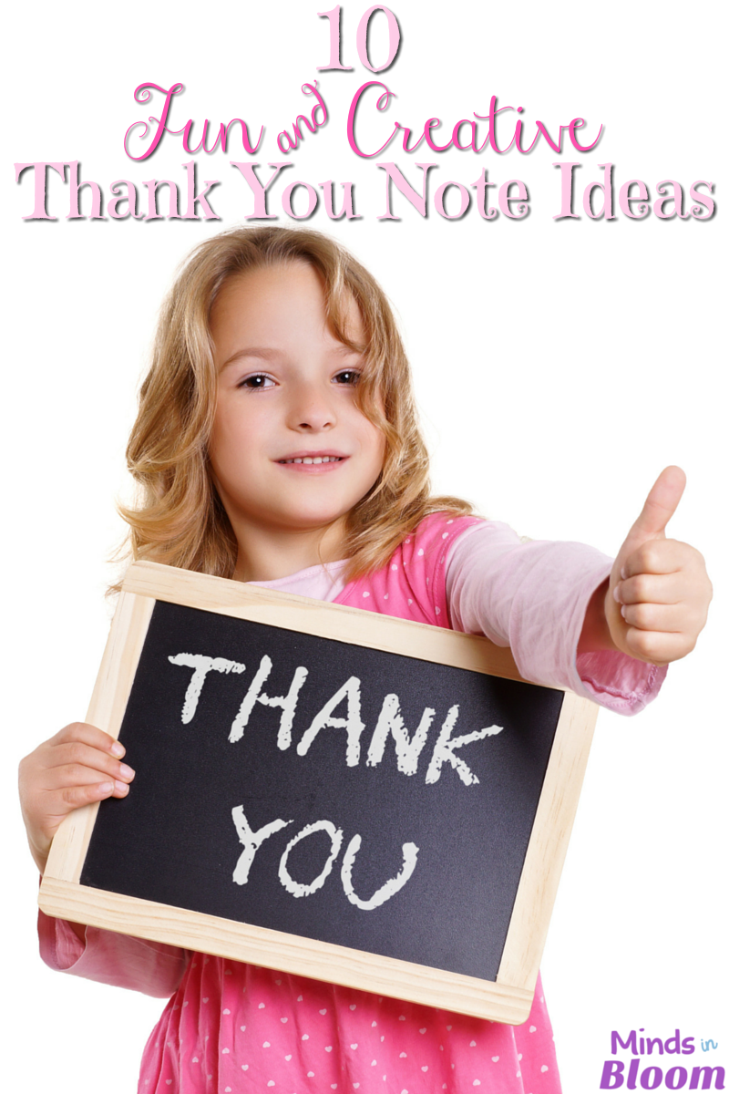 """Saying """"thank you"""" can be more exciting and personalized than writing a simple note. Read this list for thank you note ideas that includes crafts, multi-media, and other creative ideas!"""