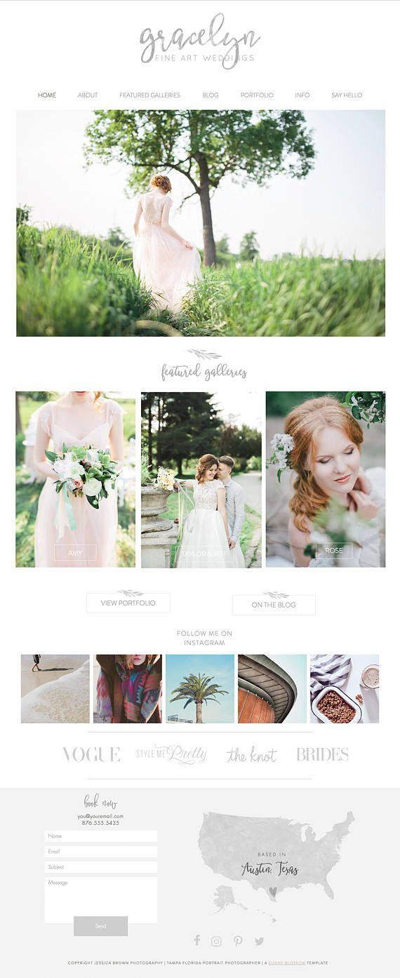 Wix Website Design Website Template Photography Website Wedding - Wedding photography website templates