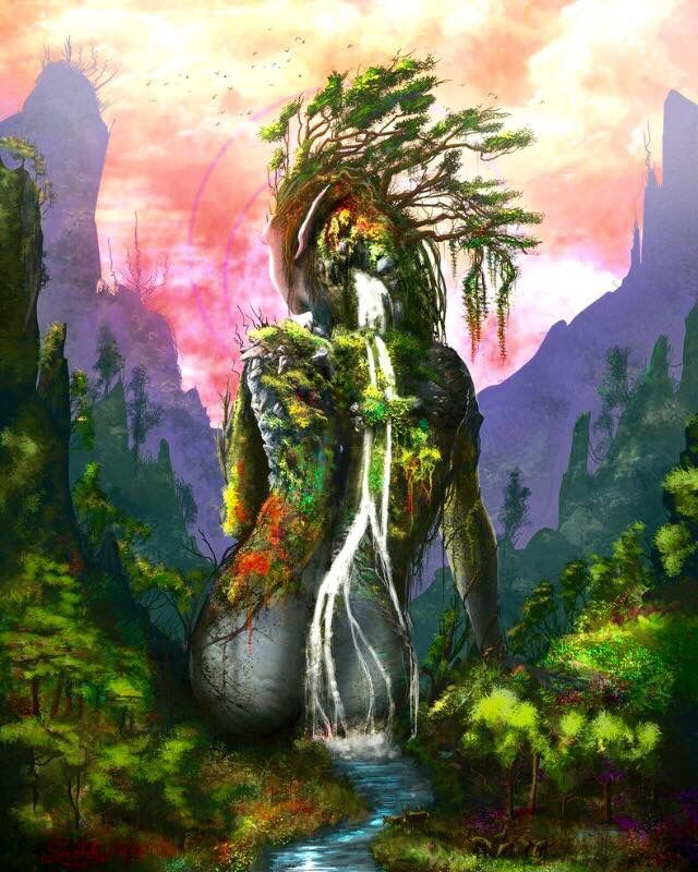 Mother Earth Nature Artwork Mother Nature Goddess Nature Art