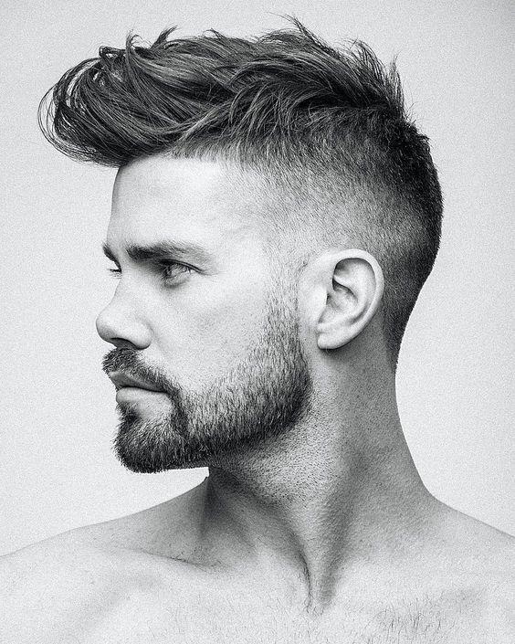 Imagen cortes-de-pelo-corto-hombre-degradado-blanco-y-negro-moreno-con-barba  del artículo Fotos de Cortes de Pelo Corto Hombre y Peinados 2017  55b78deebdb