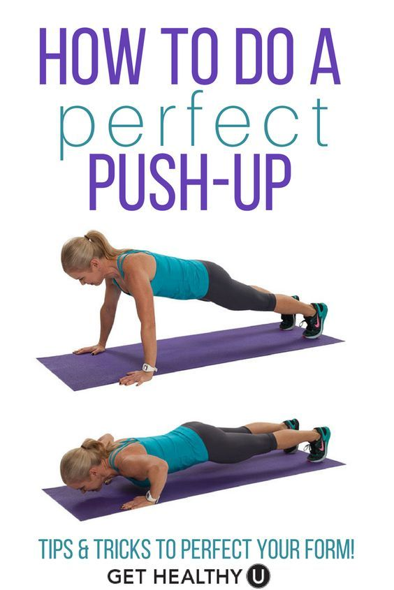 How To Do A Push-Up | fitness | Pinterest