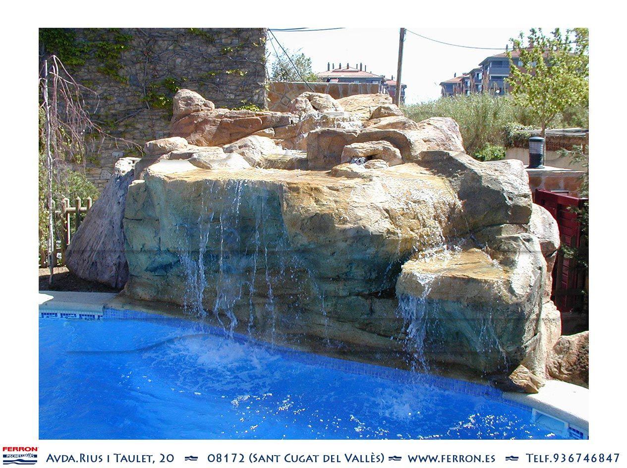 Piscina de ferr n piscinas detalle de cascada en piscina - Lucia la piedra piscina ...