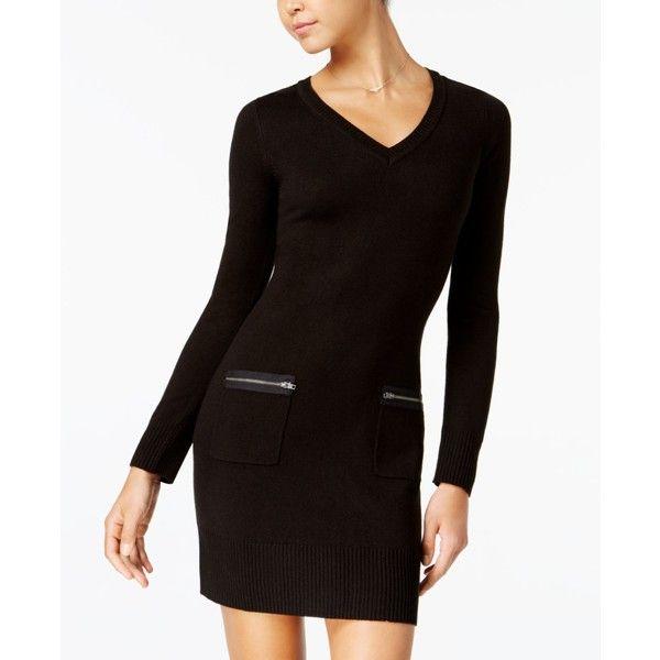 b151e178cc Bcx Juniors  Zip-Pocket Sweater Dress ( 35) ❤ liked on Polyvore featuring  dresses