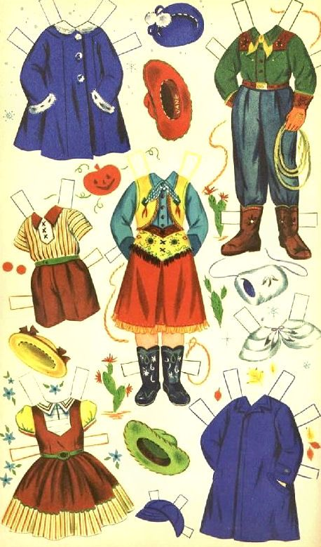 Jane and Jack Paper Dolls - Dell Publishing: Page 2 (of 6)