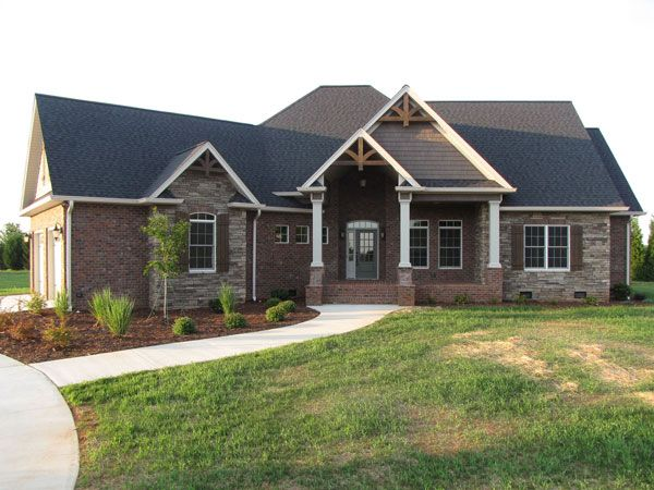 Craftsman House Plan Perfect For A Growing Family Brick Exterior House Craftsman House Craftsman House Plan