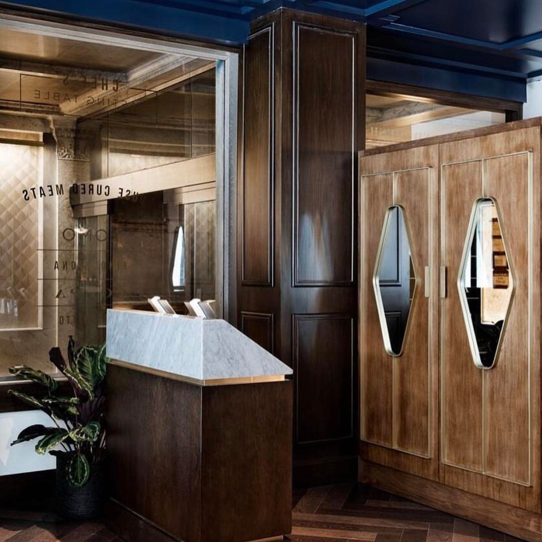 Beautiful Shot Of Our Design For Steadfast Chi Host Stand And Custom Coat Closet Emily Hostess Stand Design Restaurant Remodel Hostess Stand Restaurant