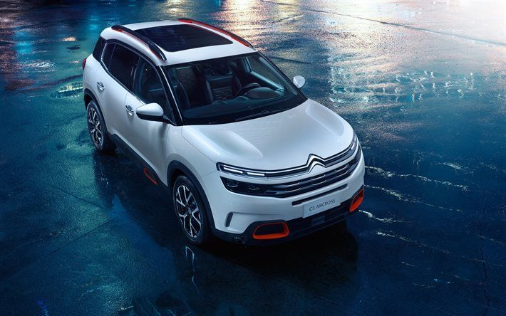Download Wallpapers Citroen C5 Aircross 2018 Cars Crossovers