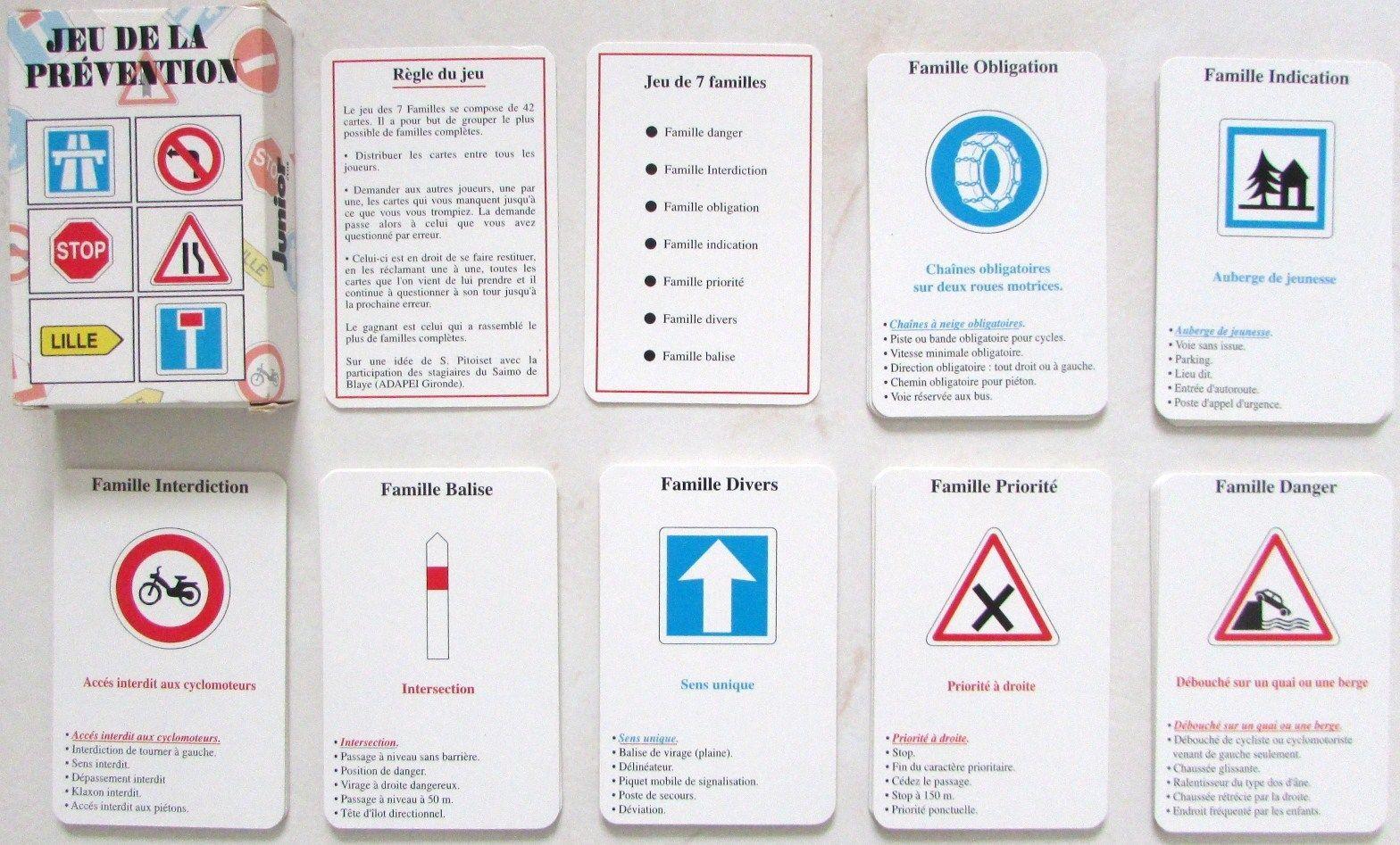 jeu de 7 familles jeu de la pr vention routi re cartes h ron prevention routiere h rons et. Black Bedroom Furniture Sets. Home Design Ideas