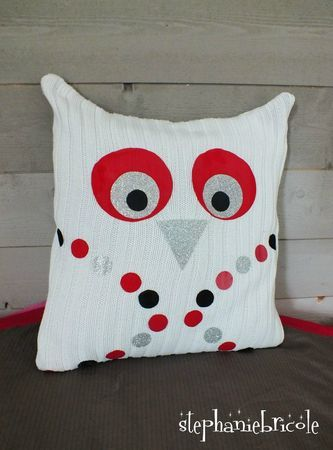 tuto diy recup faire un coussin owl pillow owl and manualidades. Black Bedroom Furniture Sets. Home Design Ideas