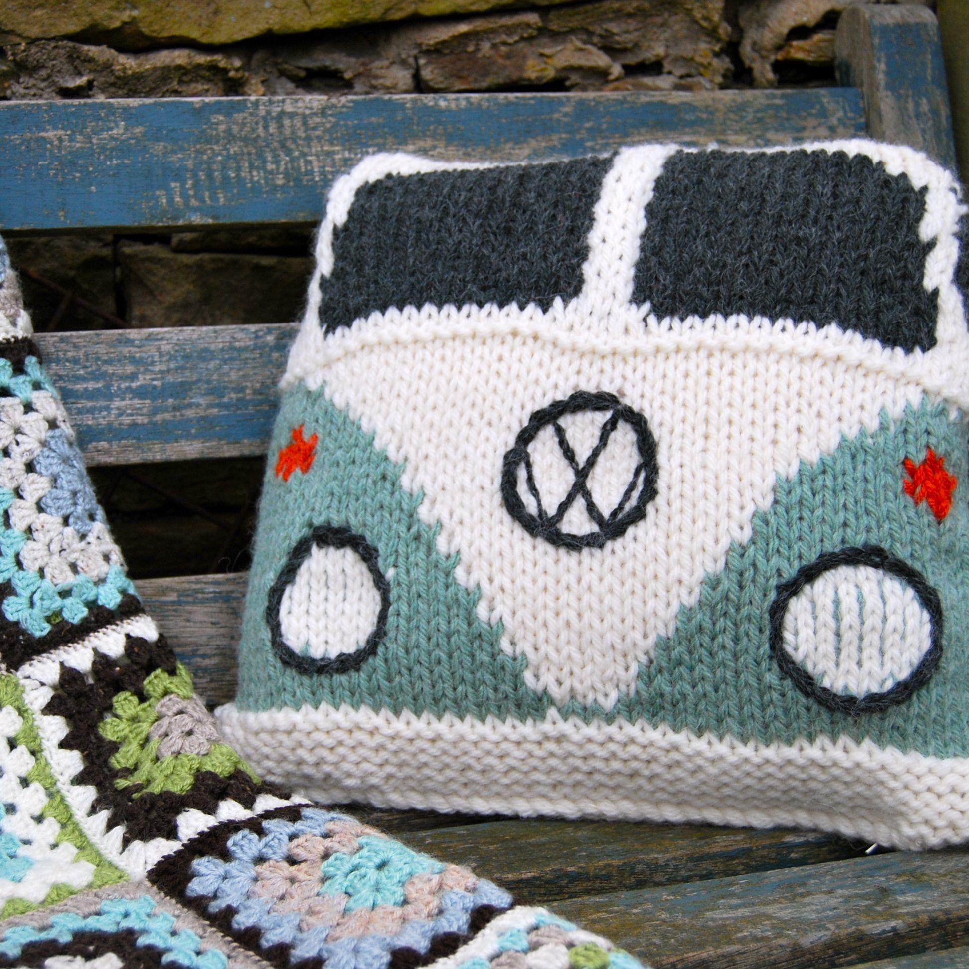 Vw Bus Pillow How Cool Bulli Co Häkeln Stricken Und Kissen