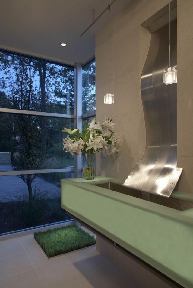 Ideen für moderne Zimmerbrunnen – holen Sie die Umwelt ins Haus ...