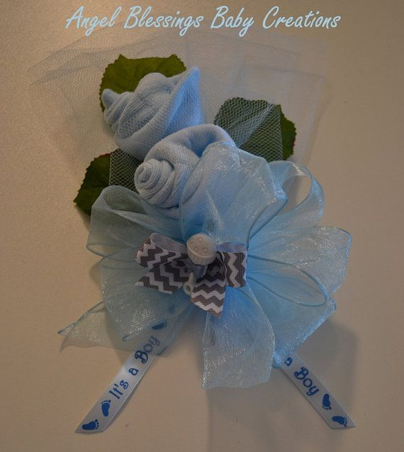 Baby Boy Shower Corsage Baby Socks Corsage Mother To Be Pin On