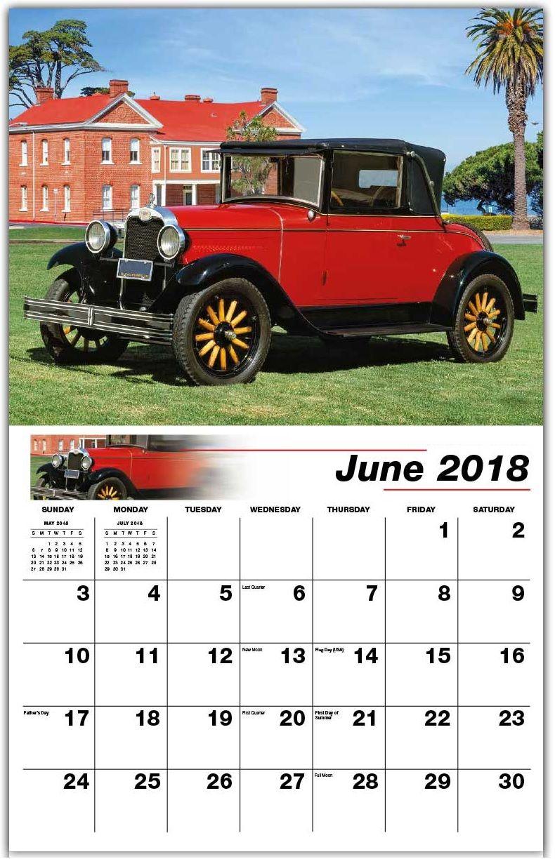 Classic Cars June 2018 Desk Calendar | Calendars | Pinterest | Desk ...