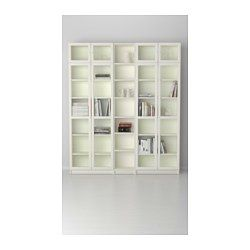 Billy Oxberg White Bookcase 200x30x237 Cm Ikea White Bookcase Bookcase Design Bookcase