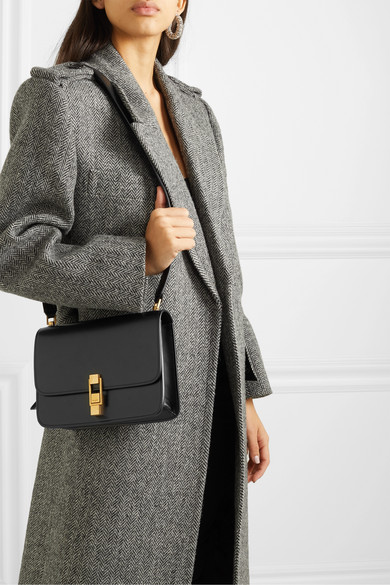 Carre Satchel Smooth Leather Black
